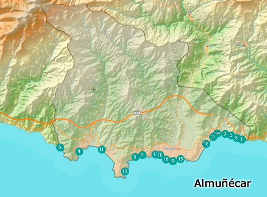 Playas en el municipio de almuñecar