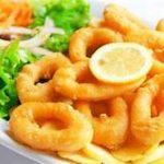 calamares con ensalada